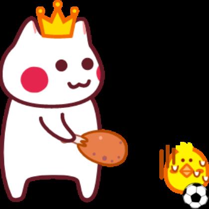 Funny football cat sticker messages sticker-2