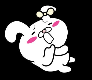 Blusher rabbit adult girls messages sticker-10