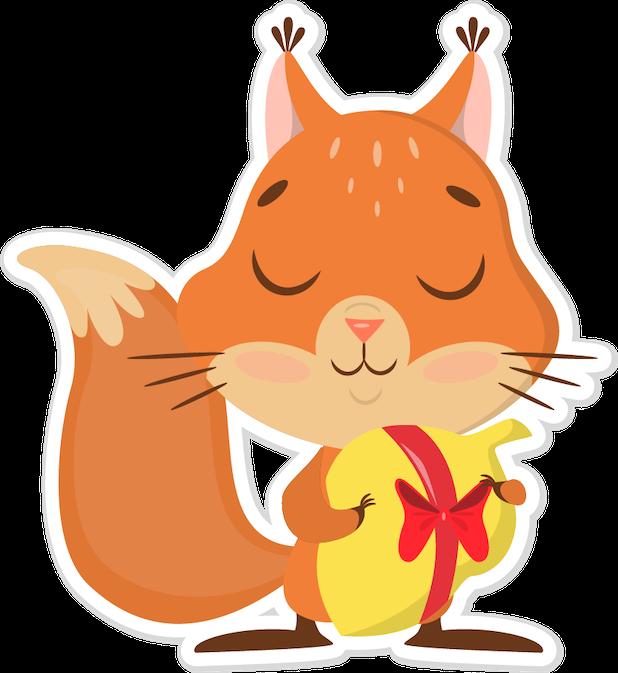 Niki the Fluffy Squirrel messages sticker-5