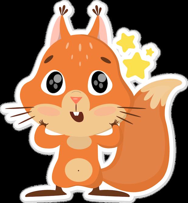 Niki the Fluffy Squirrel messages sticker-3