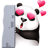 Cute Panda Stickers messages sticker-9