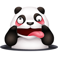 Cute Panda Stickers messages sticker-2