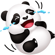 Cute Panda Stickers messages sticker-3