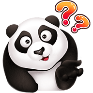 Cute Panda Stickers messages sticker-11
