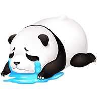 Cute Panda Stickers messages sticker-1