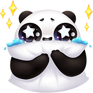 Cute Panda Stickers messages sticker-7