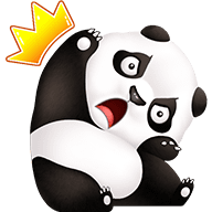 Cute Panda Stickers messages sticker-8
