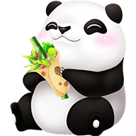 Cute Panda Stickers messages sticker-0