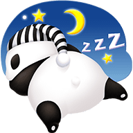Cute Panda Stickers messages sticker-6