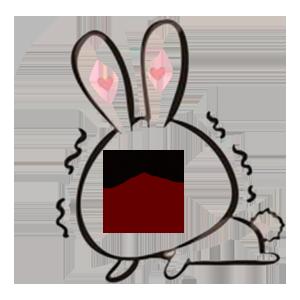 Big face rabbit messages sticker-8