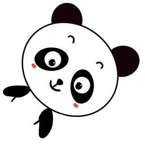Qute Panda messages sticker-5