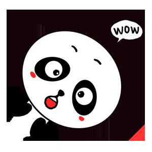 Qute Panda messages sticker-0
