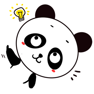 Qute Panda messages sticker-6