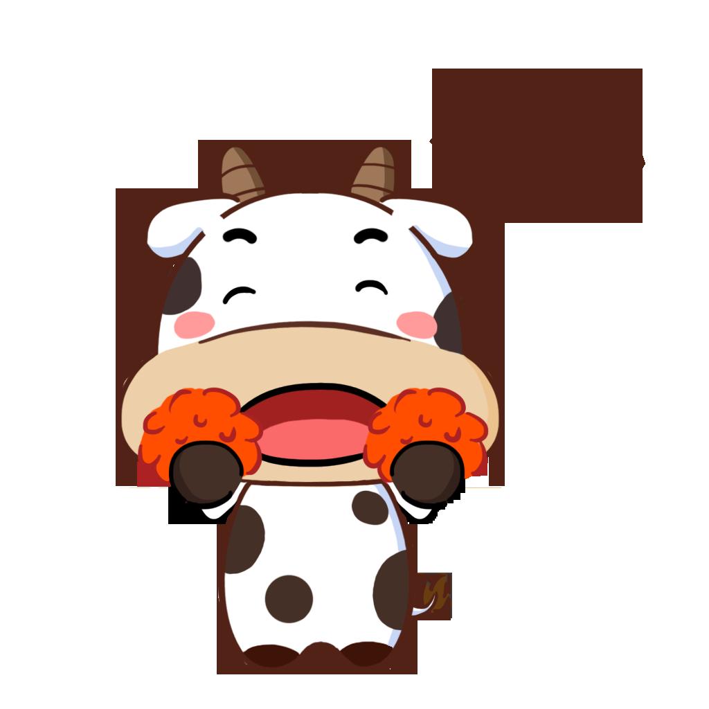 护国神牛-可爱贴纸 messages sticker-5