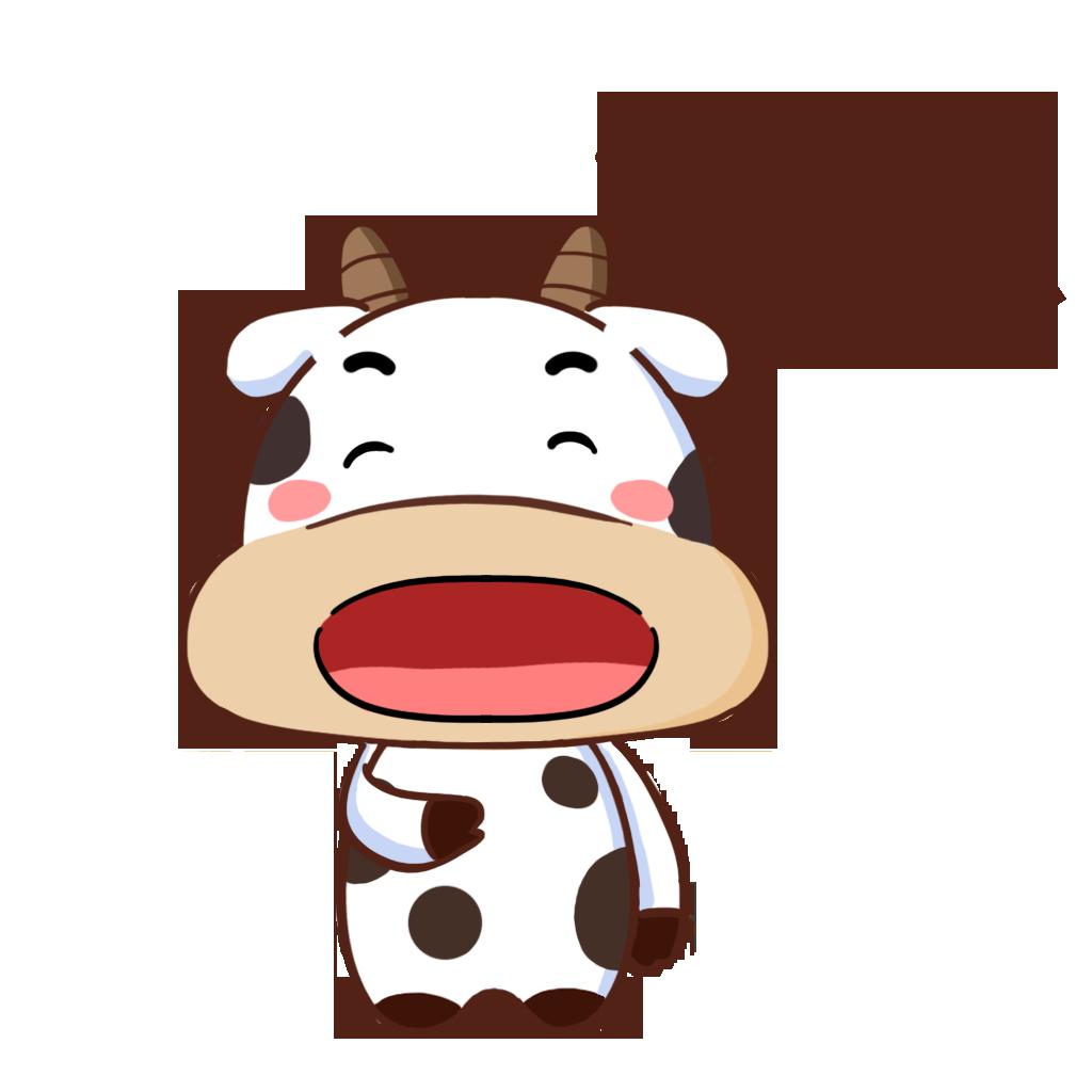 护国神牛-可爱贴纸 messages sticker-7