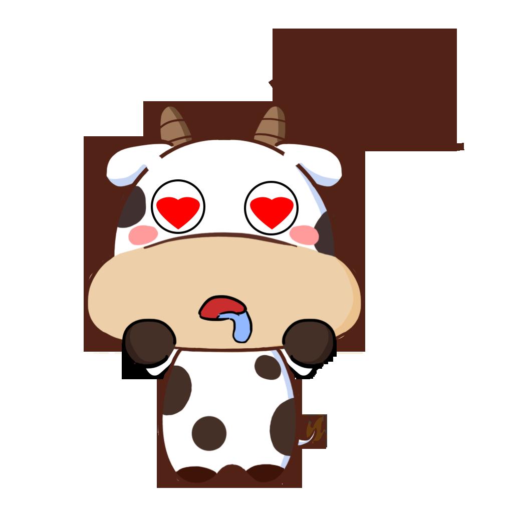 护国神牛-可爱贴纸 messages sticker-0
