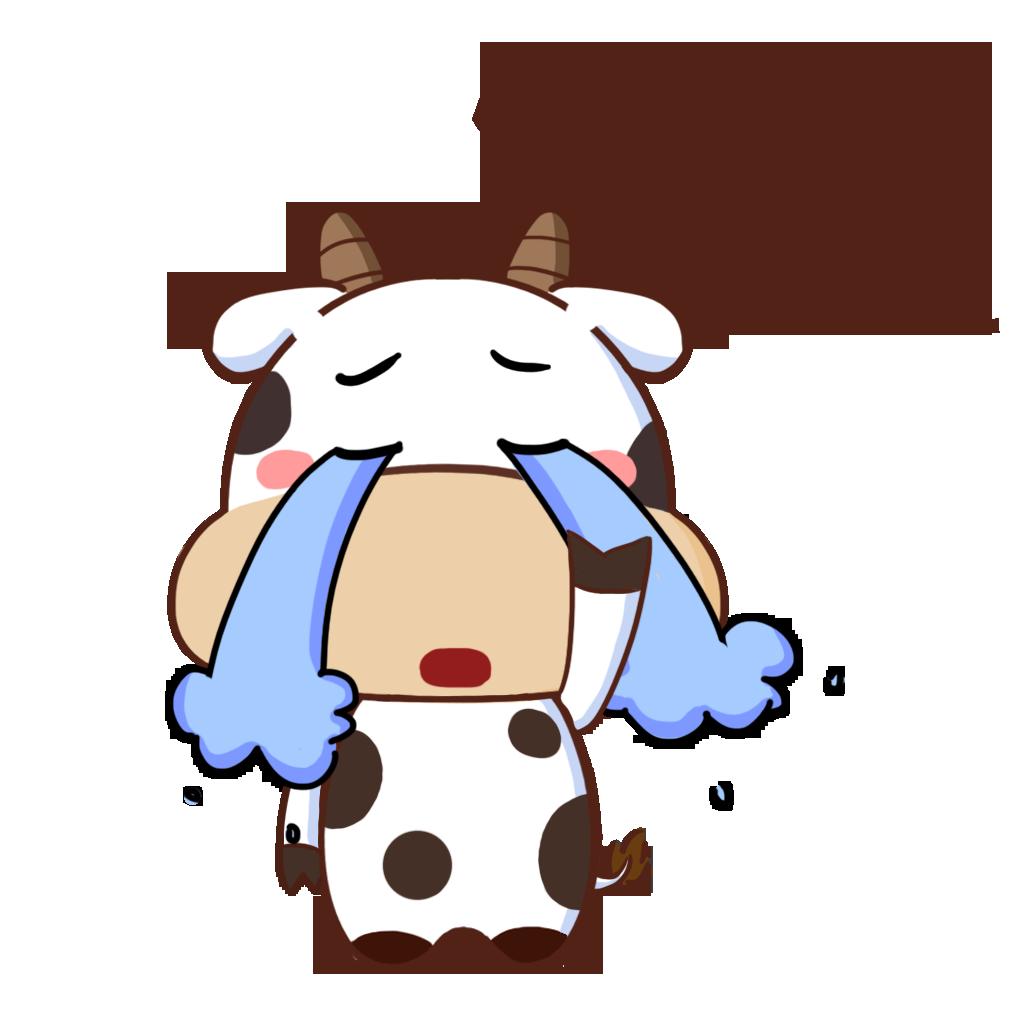 护国神牛-可爱贴纸 messages sticker-10