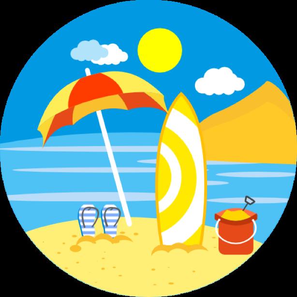 Outdoor round sticker messages sticker-5
