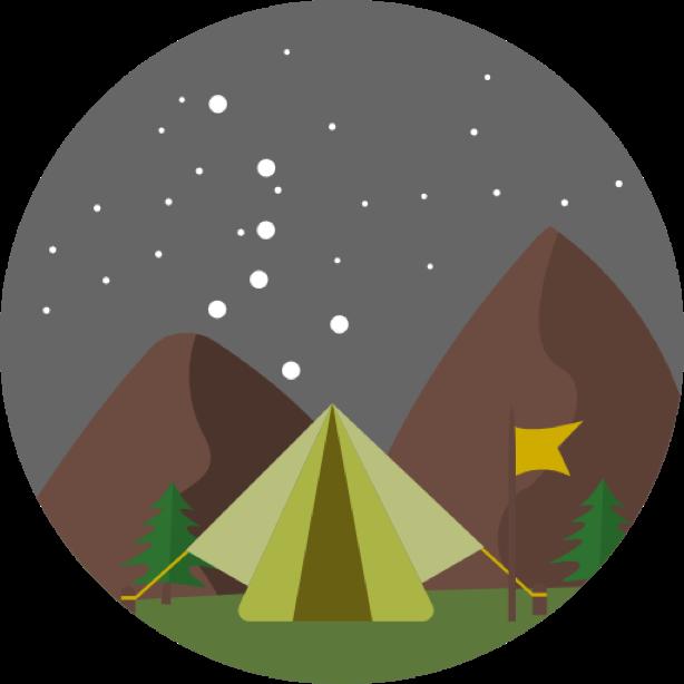 Outdoor round sticker messages sticker-7