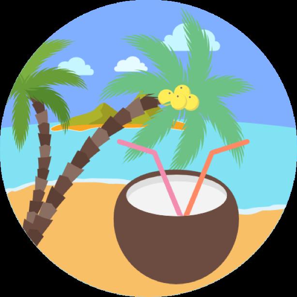 Outdoor round sticker messages sticker-8