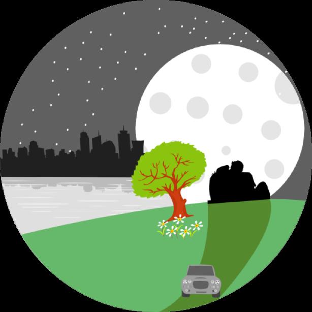 Outdoor round sticker messages sticker-1