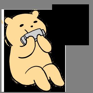 毎日くまステッカー3 ロックバージョン messages sticker-6