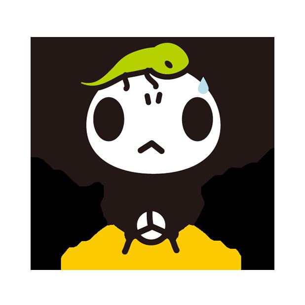 あさひな。棒パンダステッカー 01 messages sticker-0