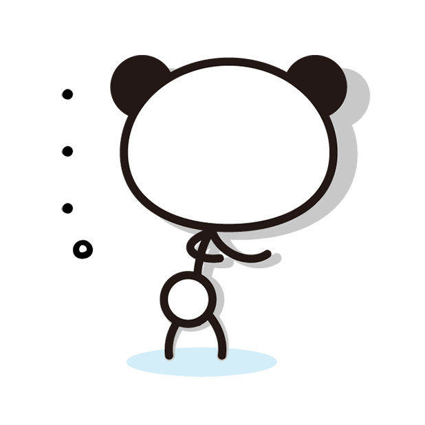 あさひな。棒パンダステッカー 01 messages sticker-11
