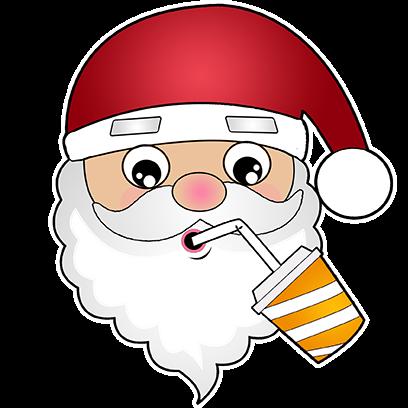 Hi Santa Claus Stickers messages sticker-5