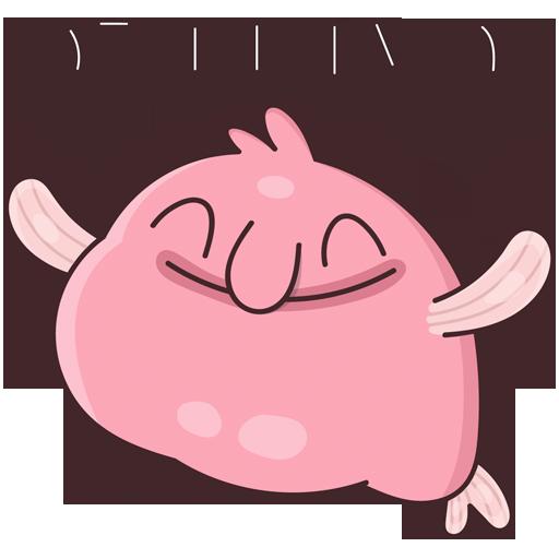 BlobFish Dreams messages sticker-10