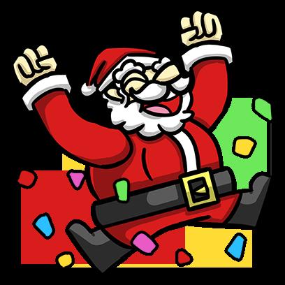 Slam Dunk Santa messages sticker-6