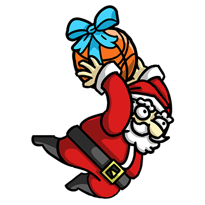 Slam Dunk Santa messages sticker-2