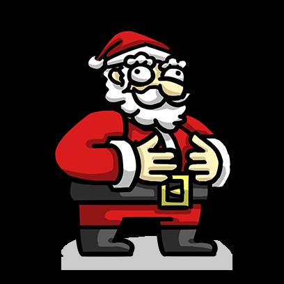 Slam Dunk Santa messages sticker-7
