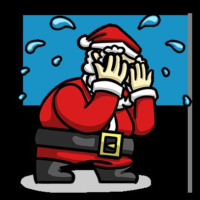 Slam Dunk Santa messages sticker-0