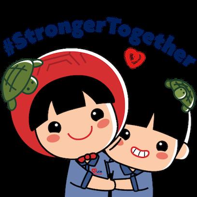 UOB Heartbeat x AngKuKuehGirl messages sticker-5