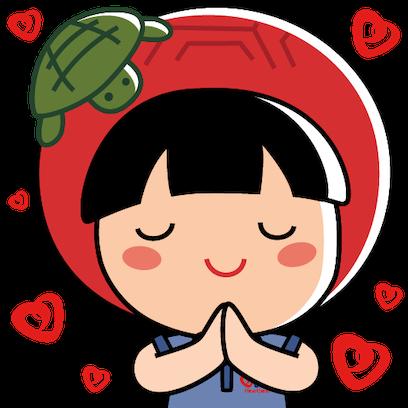 UOB Heartbeat x AngKuKuehGirl messages sticker-1