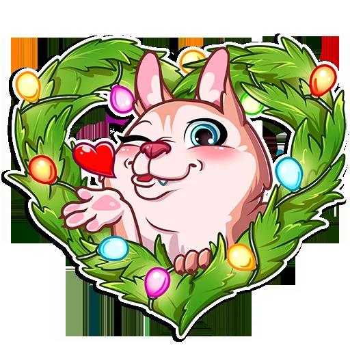 New Year Dog messages sticker-1