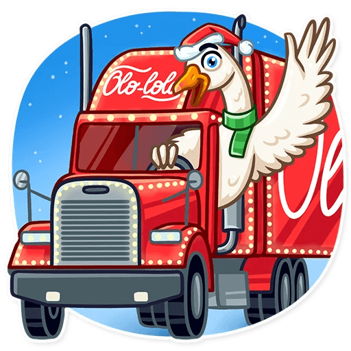 Christmas Goose New Year messages sticker-4