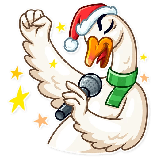 Christmas Goose New Year messages sticker-6