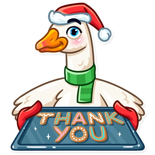 Christmas Goose New Year messages sticker-10