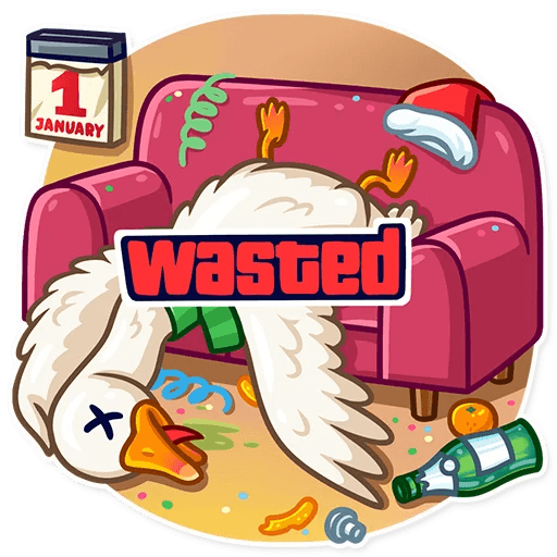 Christmas Goose New Year messages sticker-8