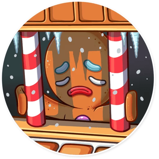 Gingy for New Year messages sticker-8