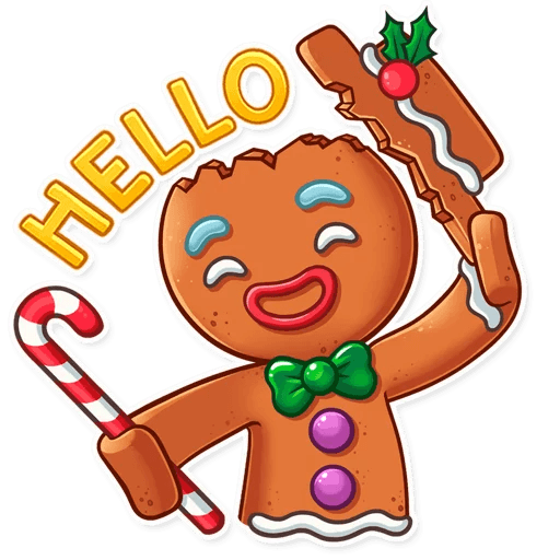Gingy for New Year messages sticker-4