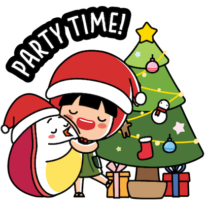 Ang Ku Kueh Girl - Christmas messages sticker-5