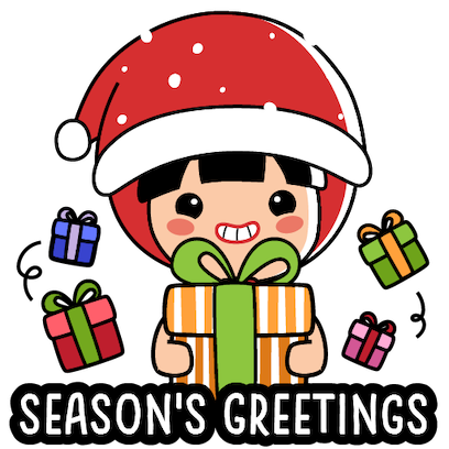 Ang Ku Kueh Girl - Christmas messages sticker-0