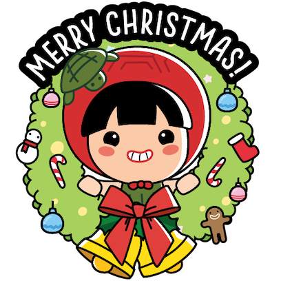 Ang Ku Kueh Girl - Christmas messages sticker-4