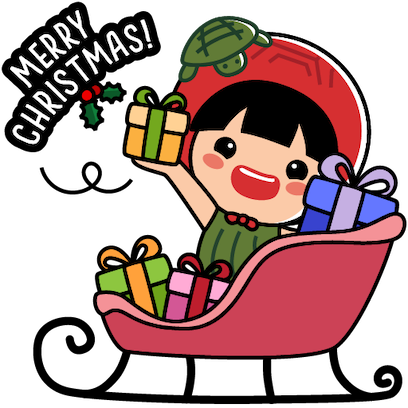 Ang Ku Kueh Girl - Christmas messages sticker-6