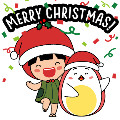 Ang Ku Kueh Girl - Christmas messages sticker-3
