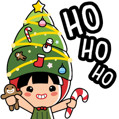 Ang Ku Kueh Girl - Christmas messages sticker-1