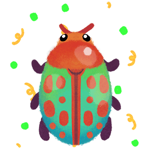 Moth and Beetle messages sticker-10